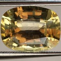Natural unheated yellow sapphire
