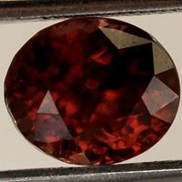 Natural Purplish Brown Zircon